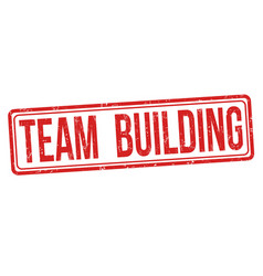 team building sign or stamp vector image
