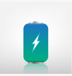 Transparent charged batteries element for vector