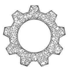 Web network gearwheel icon vector