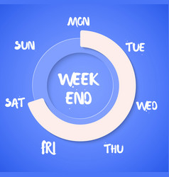 Week Loading Weekend vector
