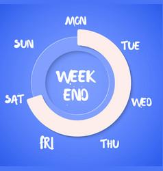 Week loading weekend vector
