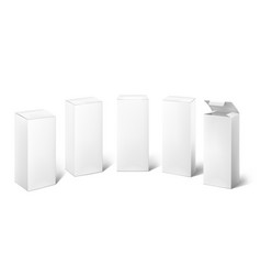 White box 3d blank realistic cosmetic pack vector