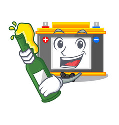 With beer miniature accomulator in the a shape vector