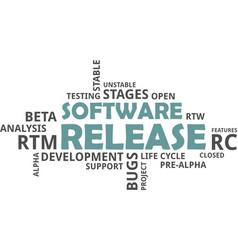 Word cloud - software release vector