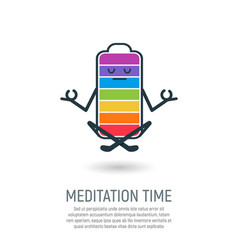 yoga lotus position isolated vector image