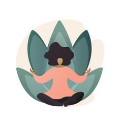Yoga school abstract concept vector