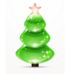 Christmas tree from design elements background vector image vector image