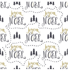 hand drawn seamless pattern with christmas type vector image vector image