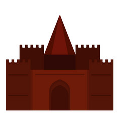 medieval palace icon isolated vector image vector image