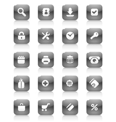 Black buttons for internet and shopping vector image