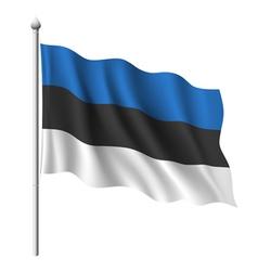 Flag of Estonia vector image vector image