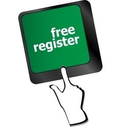 free register computer key showing internet login vector image