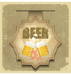 vintage postcard cover menu - beer vector image