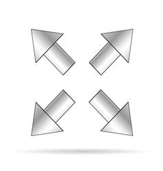 arrow signboard vector image