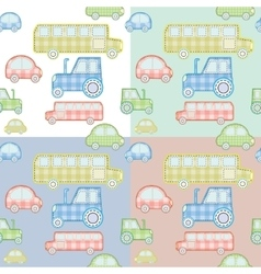 car pattern for kids vector image vector image