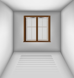 Empty room with window and blinds vector image vector image