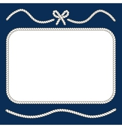 Nautical ropes and bow frame vector image vector image