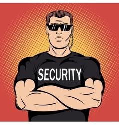 Security guard comics design vector image