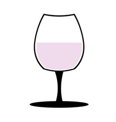 vine-glass silhouette of goblets with wine or vector image