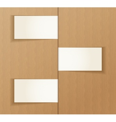 Paper banners on the cardboard background vector image vector image