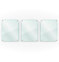 Transparent Glass Frames vector image