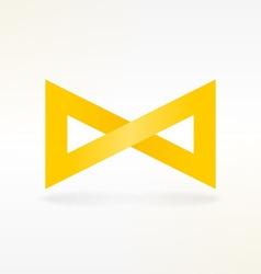 Yellow Infinity Symbol vector image