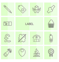 14 label icons vector
