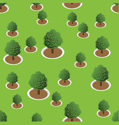3d forest trees pattern vector