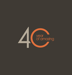 40 year amazing template design vector
