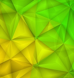 Abstract geometrical green and yellow background vector image