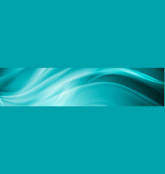 abstract shiny bright blue waves banner design vector image