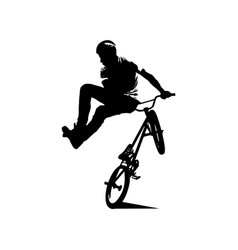 Abstract silhouette a bmx rider vector