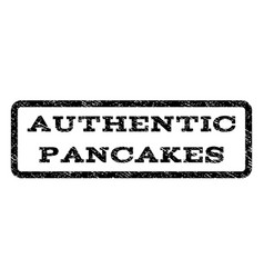 Authentic pancakes watermark stamp vector