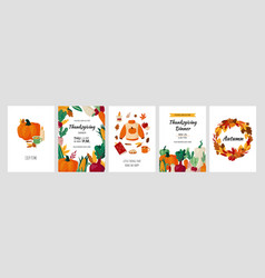 autumn posters cartoon fall background vector image