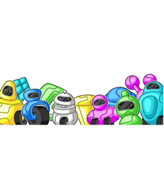 Background with robots vector