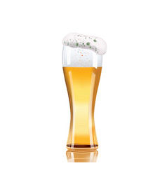 beer glass isolated on white background vector image
