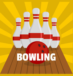 bowling icon flat style vector image