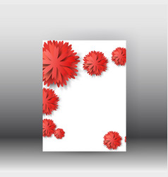 brochure design background flyerfloral poster and vector image