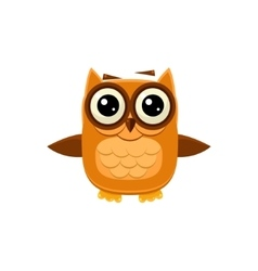 Brown owl wants a hug vector