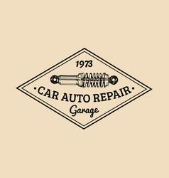 car repair logo with shock absorber vector image