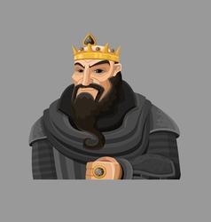 Cartoon king 3 vector
