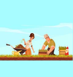 Cartoon lawn vector