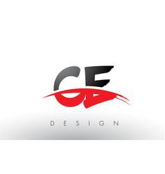 Ce c e brush logo letters with red and black vector