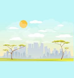 city park urban vector image