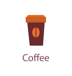 coffee cup of beverage poster vector image