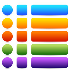 Colored rounded button banner backgrounds graphics vector
