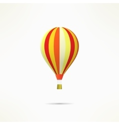 Colorful hot air balloon isolated on white vector