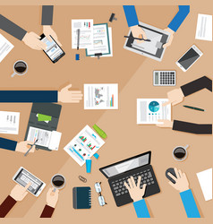 concept of business meeting vector image