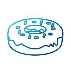 delicious donut dessert vector image