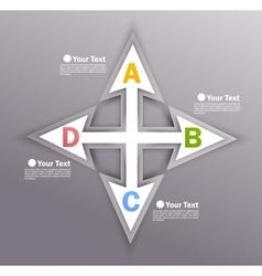 Design with arrows vector